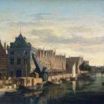 Tretradkran im Hafen von Haarlem